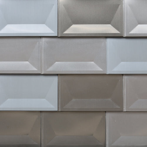Anodized Aluminum Cupped Tile - Random Bronze