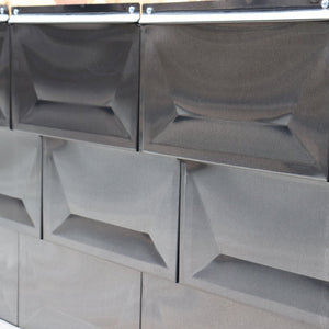 304 Stainless Steel Cupped Tile - Charcoal #4 polish