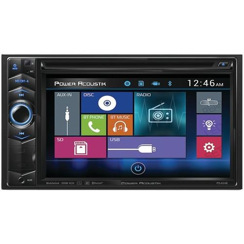 Power Acoustik PD-624B 6.2 Double-DIN In-Dash LCD Touchscreen DVD Receiver with Bluetooth
