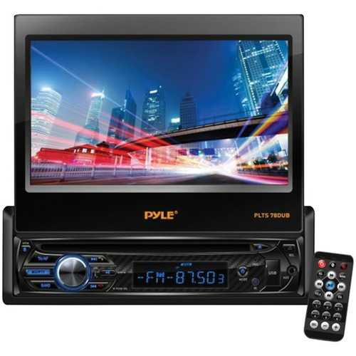 Pyle(R) PLTS78DUB 7 Single-DIN In-Dash DVD Receiver with Motorized Fold-out Touchscreen & Bluetooth(R)