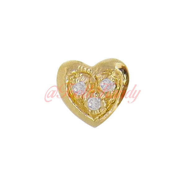 Heart with 3 Diamond