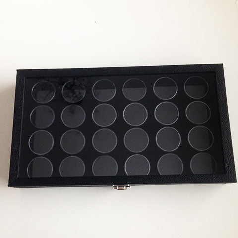 Black Gem Display Case with Lock