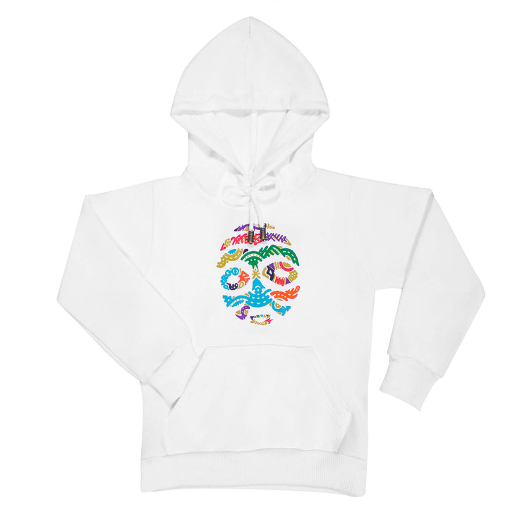 BORNO MAIDUGURI WARRIOR MASK WITH BLACK EYES TODDLER HOODIE