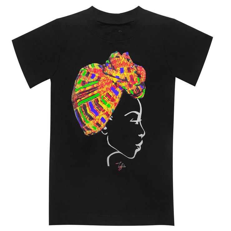 MISS AFRICA WITH TRADITIONAL WEDDING HEAD WRAP (TODDLER SHORT SLEEVE T-SHIRT)