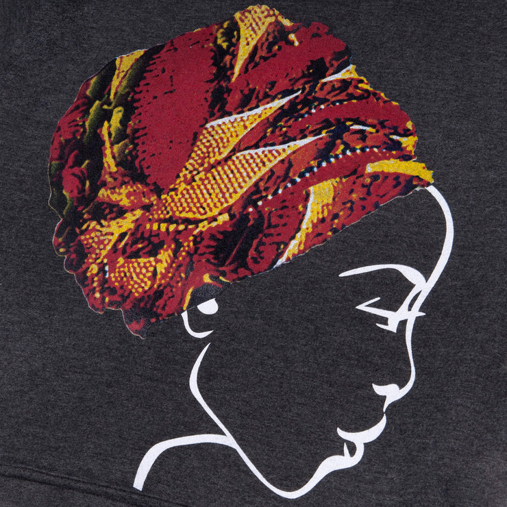 MISS AFRICA WITH CHURCH TRIBAL HEAD WRAP UNISEX HOODIE