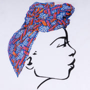 MISS AFRICA WITH SOCIAL SATURDAY HEAD WRAP UNISEX HOODIE