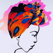 MISS AFRICA WITH COURTSHIP DANCE HEAD WRAP (LADIES SHORT SLEEVE T-SHIRT)