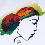 MISS AFRICA WITH CULTURE NIGHT HEAD WRAP (LADIES SHORT SLEEVE T-SHIRT)