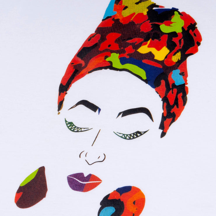 MISS AFRICA WITH MEDLEY HEAD WRAP (LADIES SHORT SLEEVE T-SHIRT)