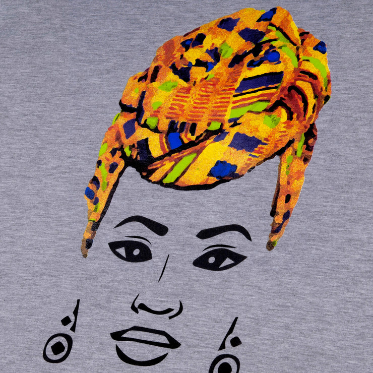 MISS AFRICA WITH TRADITIONAL WEDDING HEAD WRAP (LADIES SHORT SLEEVE T-SHIRT)