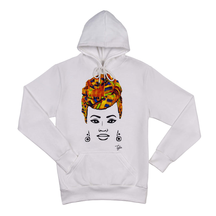 MISS AFRICA WITH TRADITIONAL WEDDING HEAD WRAP UNISEX HOODIE