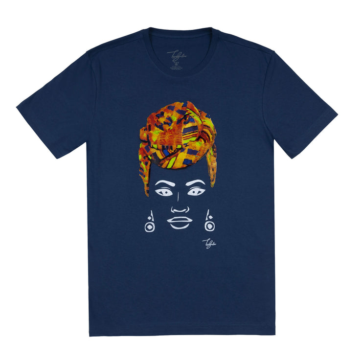 MISS AFRICA WITH TRADITIONAL WEDDING HEAD WRAP (UNISEX SHORT SLEEVE T-SHIRT)