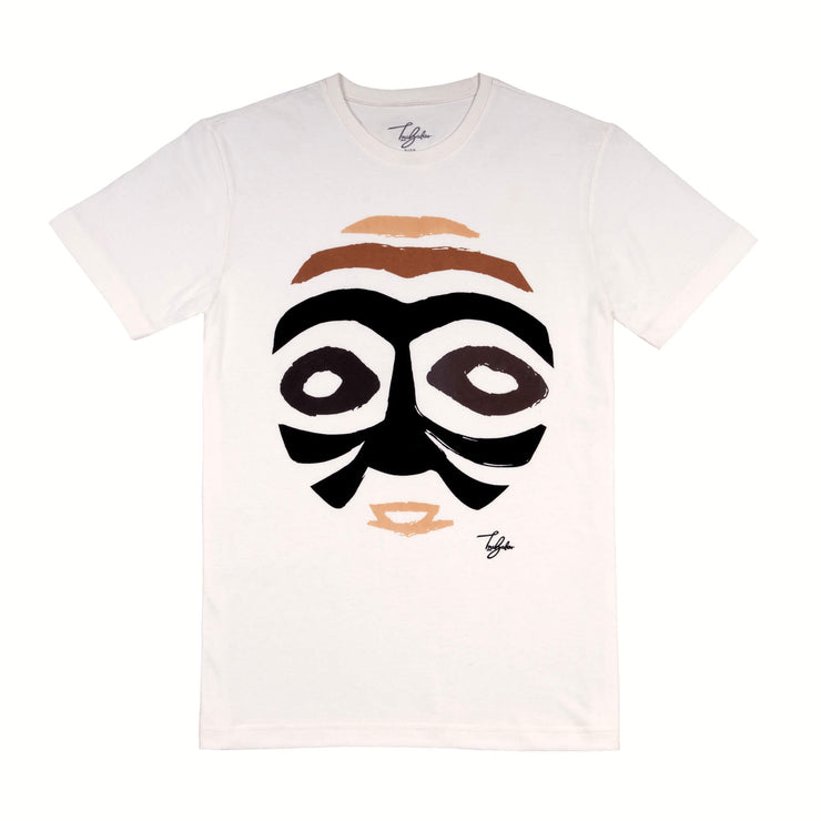 TCHIBANGA WOODIN WARRIOR MASK (UNISEX SHORT SLEEVE T-SHIRT)