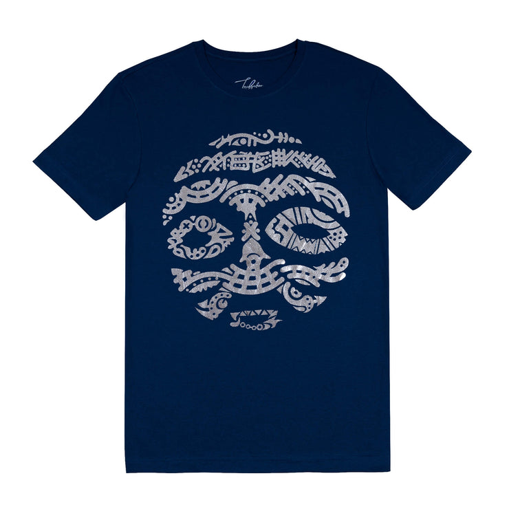 MORROCO SILVER METALLIC WARRIOR MASK (UNISEX SHORT SLEEVE T-SHIRT)