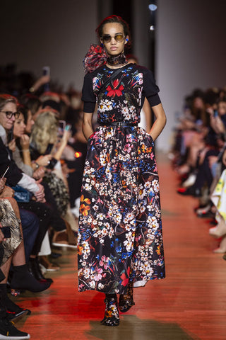 Elie saab vestido flores paris fashion week spring 2019