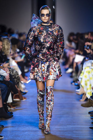 elie saab conjunto floral paris fashion week SPring 2019