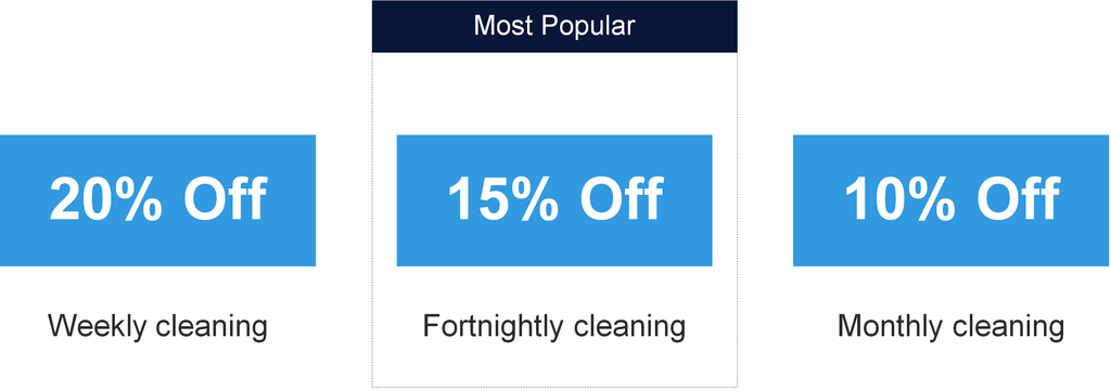 Regular home cleaning discount banner