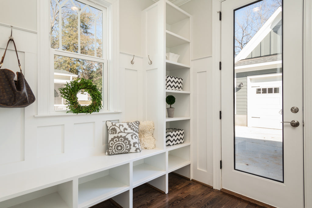 White doorway inside home