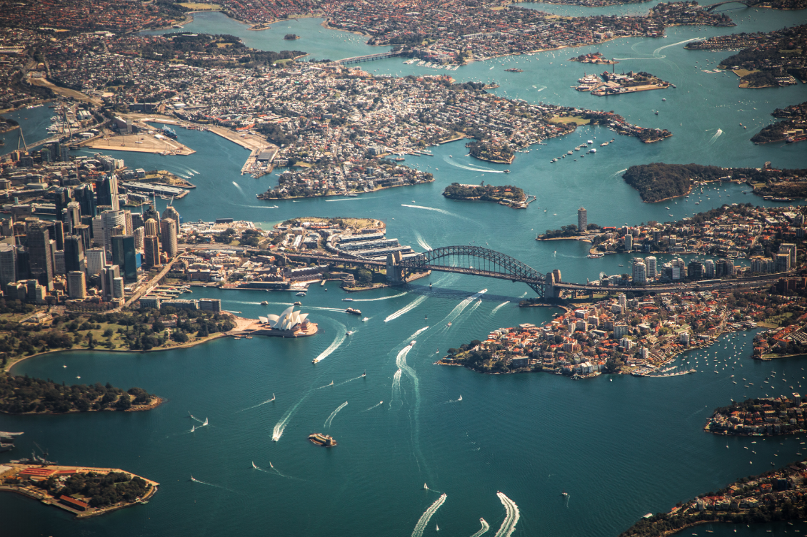 Aerial view of North Sydney