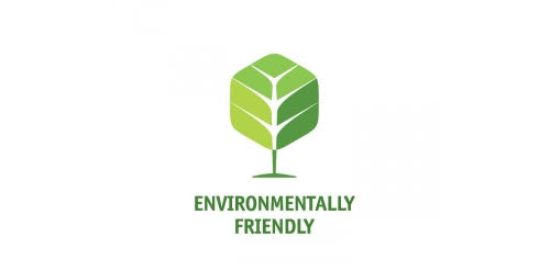 Environmentally friendly sustainable green tree badge
