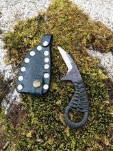 The Frog Knuckle  EDC Harvesting Knife with Green Handle and Green Sheath