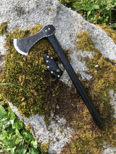 Hand Forged Tomahawk, Bushcrafting Adventure tool! Blackened Hickory handle V2