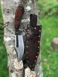 *Available* Fenrir bush knife with splatter design and Bolivian rosewood handle