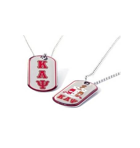 Double Sided Greek Letter Dog Tags with epoxy coating: Kappa Alpha Psi - M3 Greek
