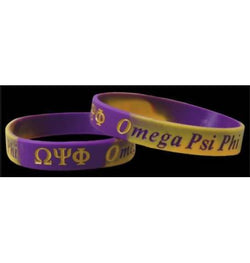 Silicone Wristband - Omega Psi Phi - M3 Greek