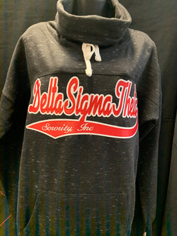 Custom  Sports Twill Cowl neck sweatshirt - Delta Sigma Theta®️ -Greek_Paraphernalia - M3 Greek