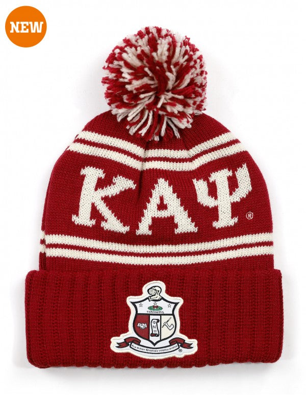 Pom Pom Beanie - Kappa Alpha Psi -Greek_Paraphernalia - M3 Greek