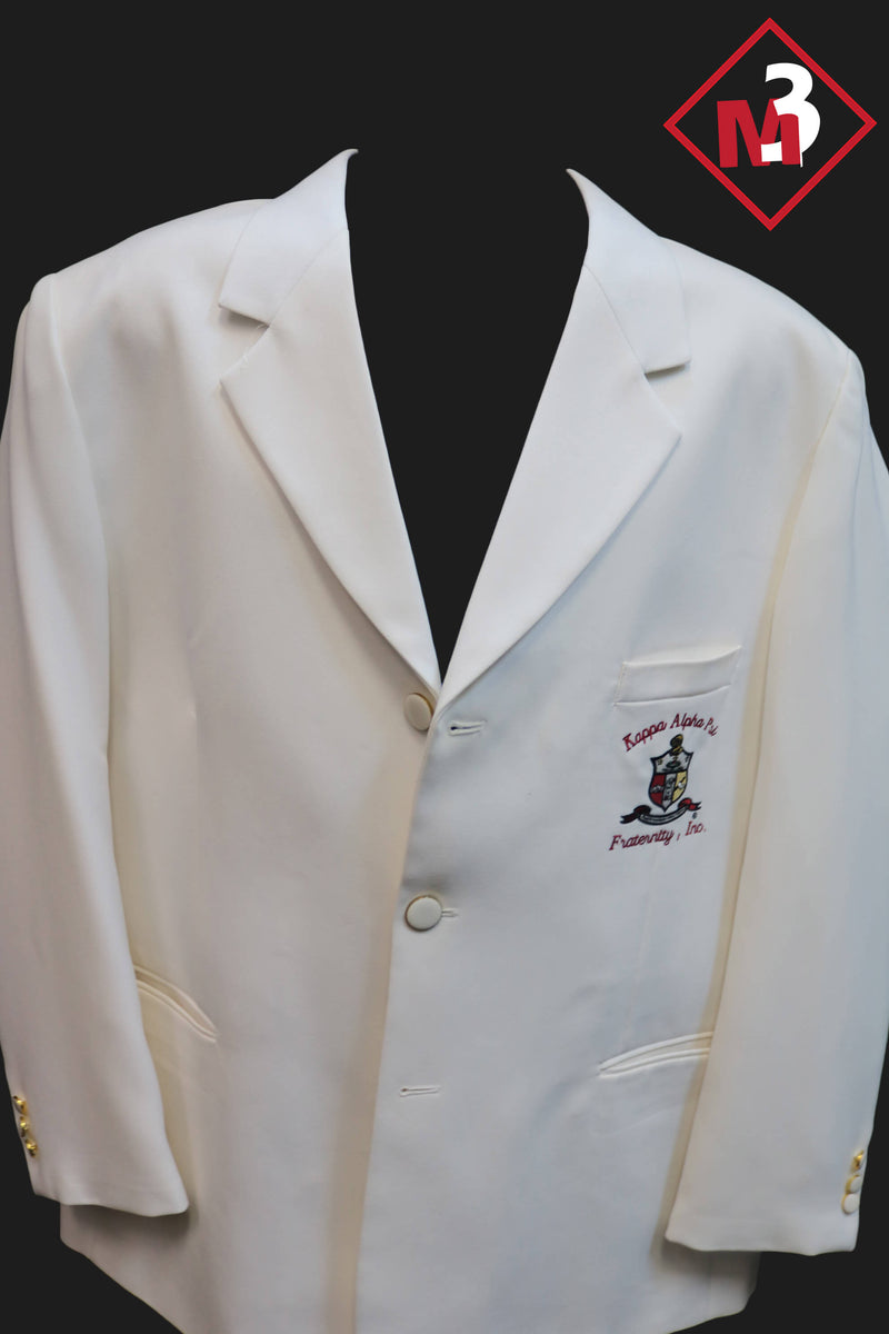 White - Kappa Alpha Psi Fraternity Blazer -Greek_Paraphernalia - M3 Greek