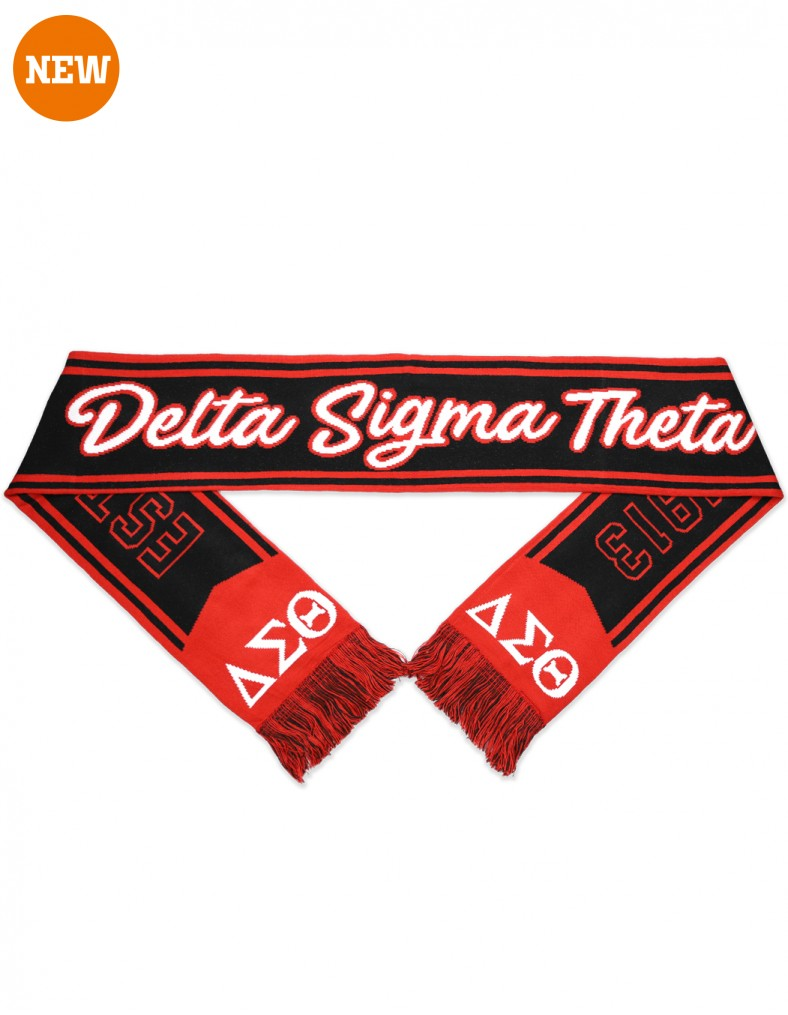 Winter Scarf - Delta Sigma Theta®️ -Greek_Paraphernalia - M3 Greek