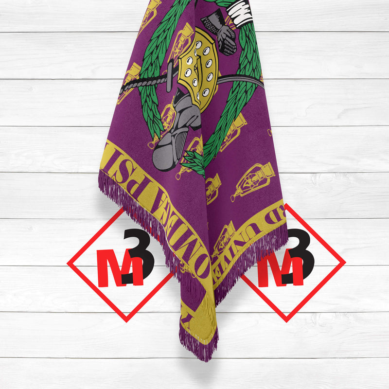 Omega Psi Phi Throw Blanket / Afghan -Greek_Paraphernalia - M3 Greek