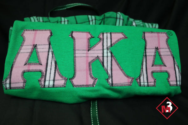 Pajama/Lounge Set - Alpha Kappa Alpha®️ -Greek_Paraphernalia - M3 Greek