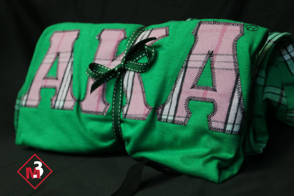 Pajama/Lounge Set - Alpha Kappa Alpha™ -Greek_Paraphernalia - M3 Greek