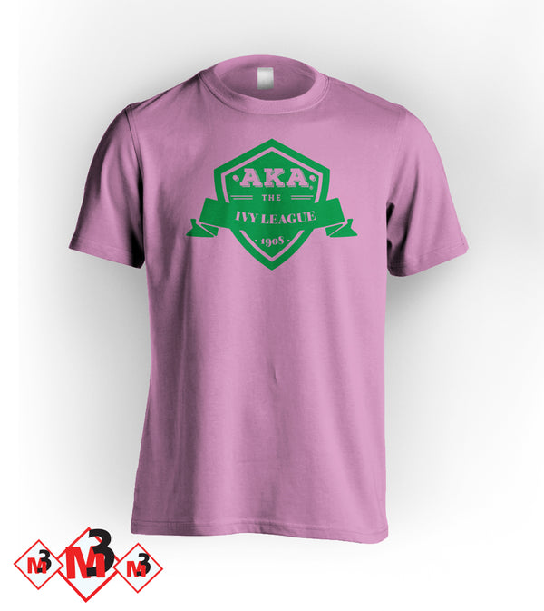 The Ivy League Tee - Alpha Kappa Alpha®️ -Greek_Paraphernalia - M3 Greek