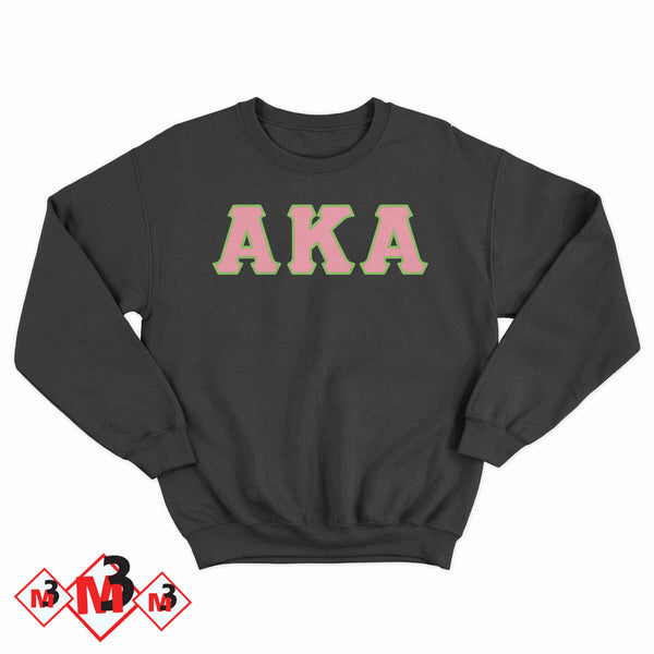 Twill Letter Sweatshirt- Alpha Kappa Alpha®️ -Greek_Paraphernalia - M3 Greek