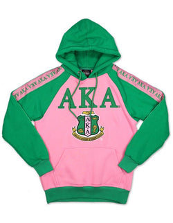 Fleece Hoodie - Alpha Kappa Alpha®️ -Greek_Paraphernalia - M3 Greek