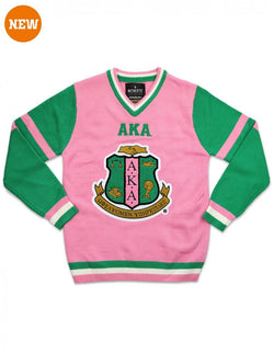 AKA V-NECK SWEATER - Alpha Kappa Alpha ®️