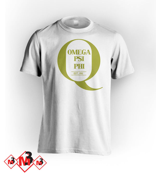 Big Q Tee, Omega Psi Phi -Greek_Paraphernalia - M3 Greek