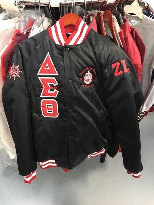 M3 Custom Color Block Satin Baseball Jacket - Delta Sigma Theta®️ -Greek_Paraphernalia - M3 Greek
