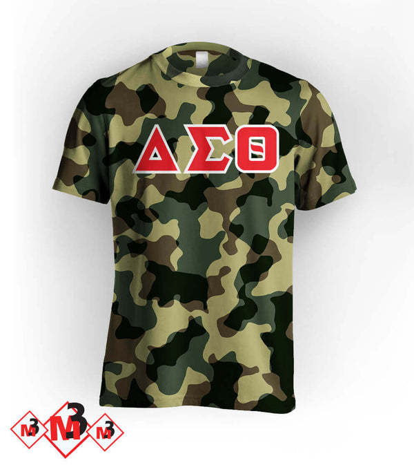 Twill Camo Tee - Delta Sigma Theta®️ -Greek_Paraphernalia - M3 Greek