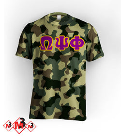Twill Camo Tee - Omega Psi Phi -Greek_Paraphernalia - M3 Greek