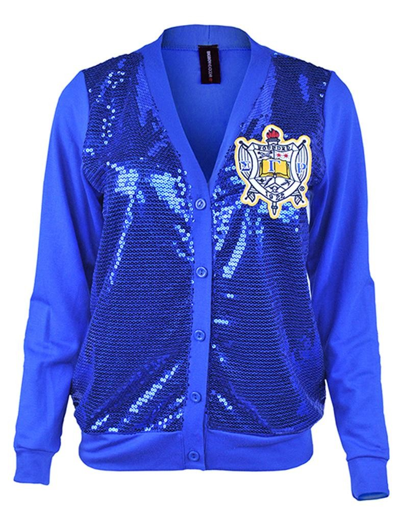 Sequin Cardigan - Sigma Gamma Rho -Greek_Paraphernalia - M3 Greek