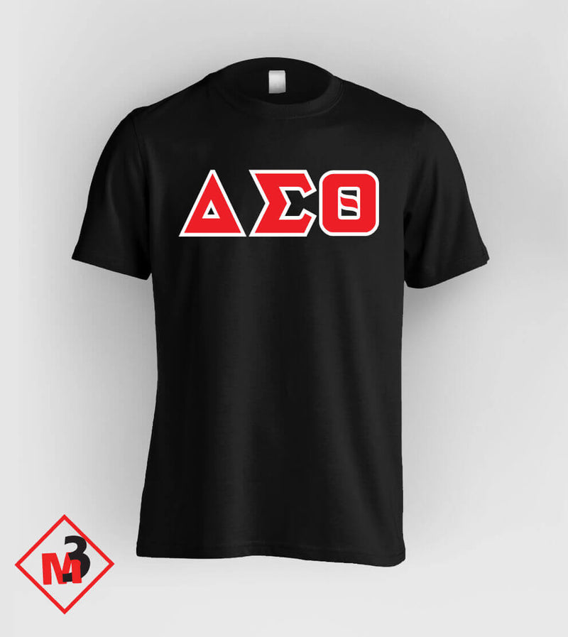 Twill Letter Tee - Delta Sigma Theta™ -Greek_Paraphernalia - M3 Greek
