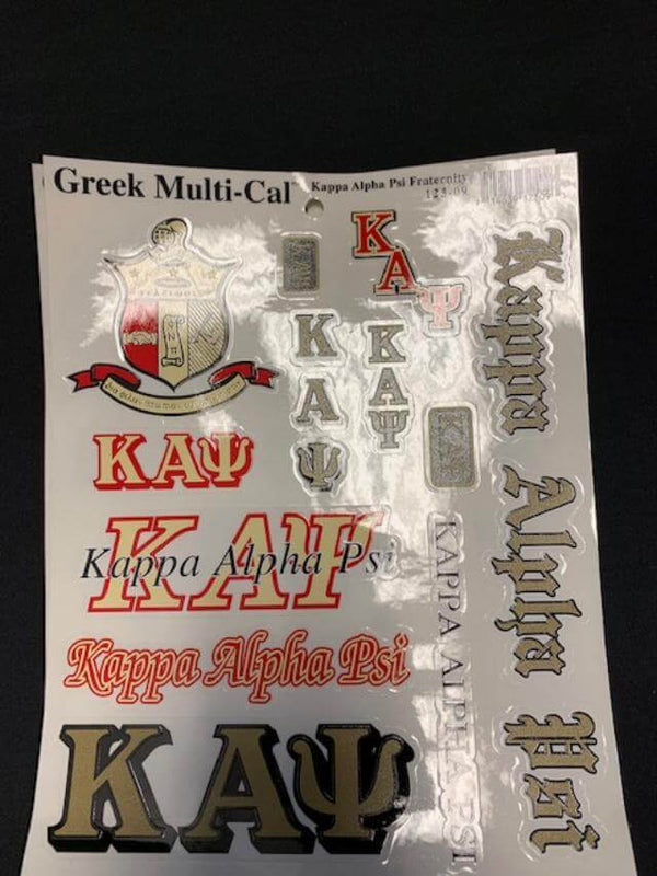 Multi Cal Decal sheets - Kappa Alpha Psi®️