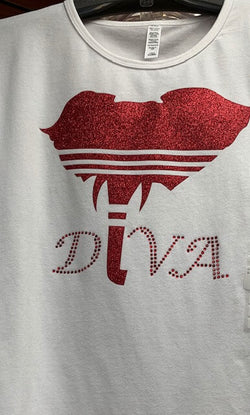 Glitter DIVA Elephant Head Tee -Greek_Paraphernalia - M3 Greek