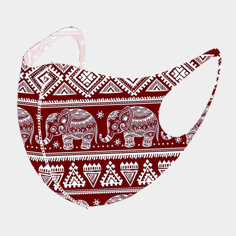 Elephant print  3-D FACE MASK