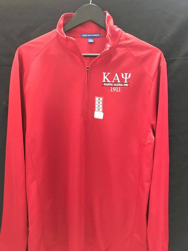 Half Zip Long Sleeve Golf Shirt Shirt - Kappa Alpha Psi -Greek_Paraphernalia - M3 Greek